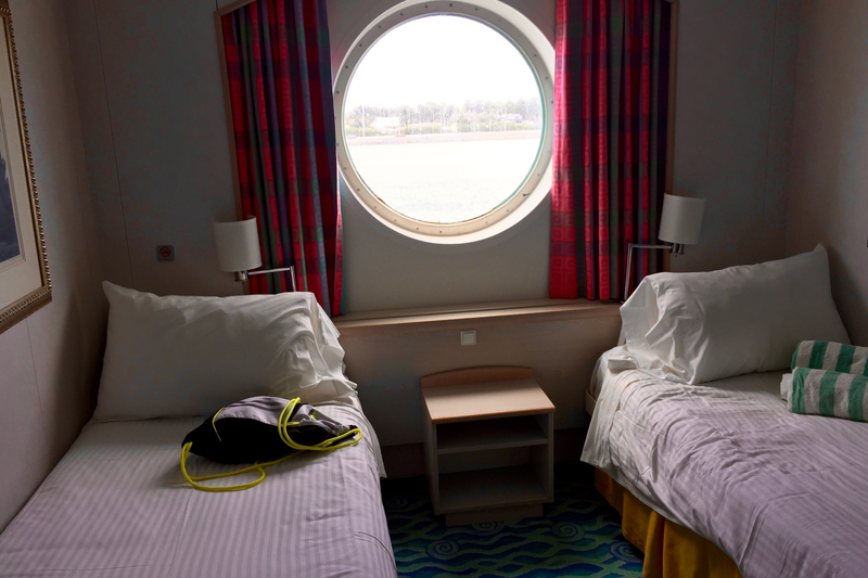 Mid Ship Oceanview Porthole Window Stateroom Cabin