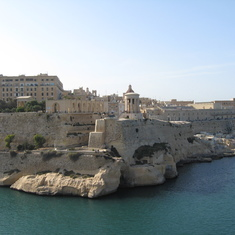 Malta - Leaving Malta and all its ancient fortifications. We received a six cannon salut