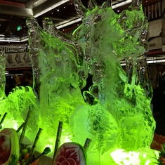 Dragon ice sculpture at Gala Buffet