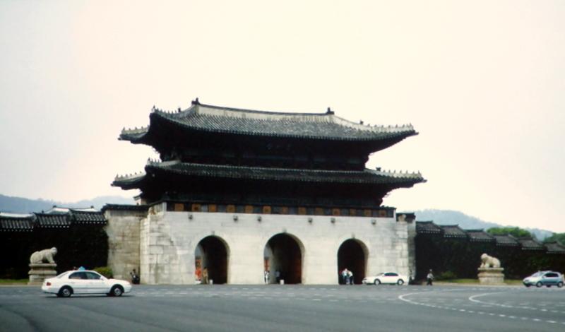 Incheon (Seoul). South Korea - Front entrance of Palace
