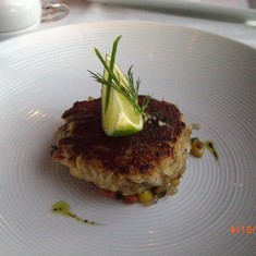Crab cake appetizer (The Point Steakhouse)