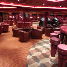 The huge Robusto Bar facility was never used on this cruise.