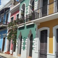 Cobblestone streets in San Juan