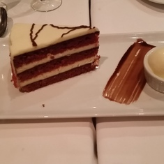 Red Velvet cake at Chops