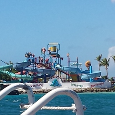 Oranjestad, Aruba - On the ferry to De Palm Island, Aruba.