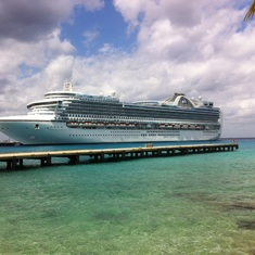 Emerald princess in cozumel
