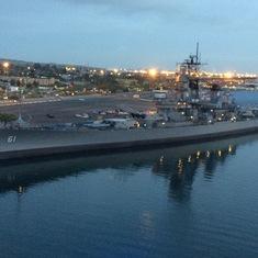The USS Iowa as you sail into San Pedro.