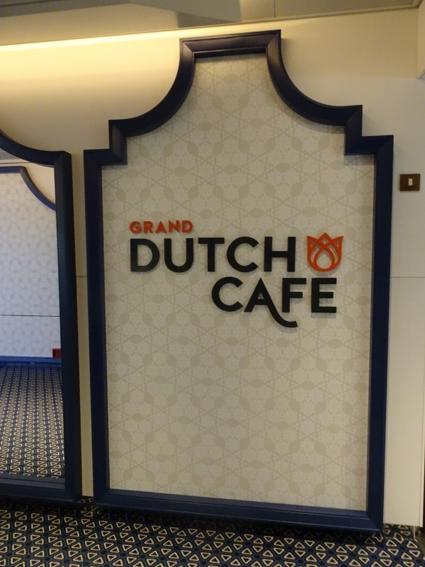Sign of the Grand Dutch Cafe - Koningsdam