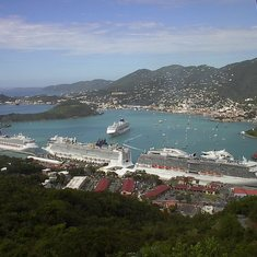 Charlotte Amalie, St. Thomas - View of Cruise Ships from Paradise Point #1