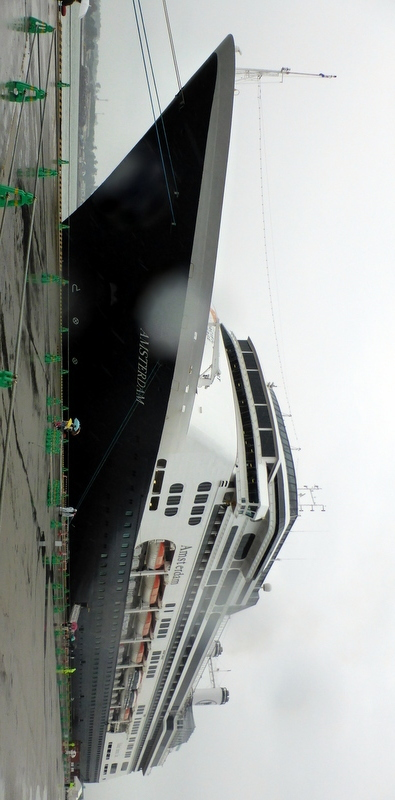 Fukuoka, Japan - Our ship in Fukuoka, Japan Substitute port for Tokyo