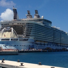 The ship in St Maarten