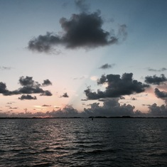 Sunset from the Catamaran Rising Son