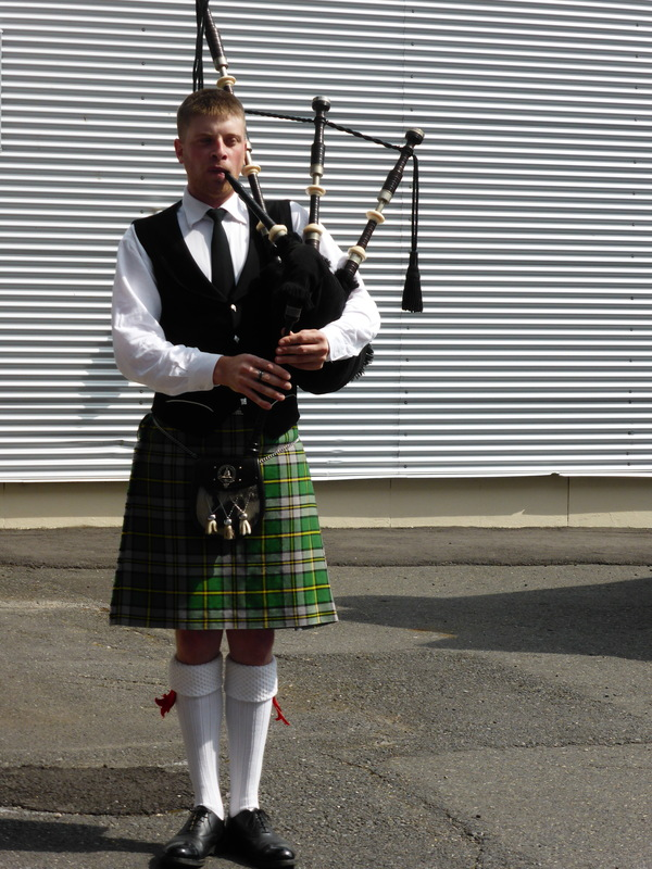 Our welcoming bagpiper - Celebrity Summit
