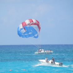 Coming in for a landing. Paradise Island