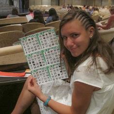 She won $250!