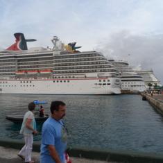 Nassau, Bahamas - Ships docked in Nassau