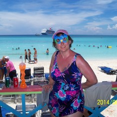 Beautiful backdrop at Half Moon Cay.