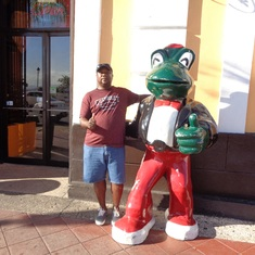 San Juan, Puerto Rico - Chilling with the frog on my birthday