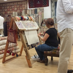 Kusadasi - Turkish Carpet Weaving Demonstration and Explanation