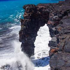 Hole in rock Big Island