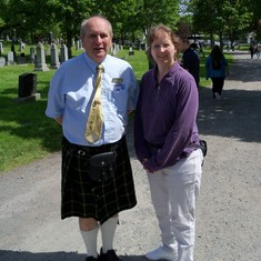 Halifax, Nova Scotia - Our tour guide at Fairview Cemetery.