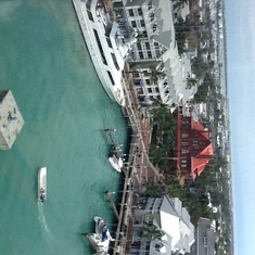 Key west from the ship
