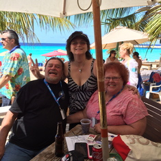 Enjoying beach time at 'Jack's Shack' in Grand Turk.