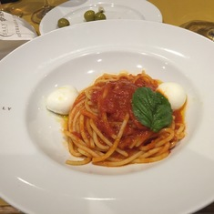 Eataly Steakhouse - Spaghetti w/Mozzarella, Tomato and Basil