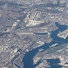 San Pedro (Los Angeles), California - Look almost in the center of this pic and you'll see the ship as we fly off.
