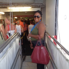 Basseterre, St. Kitts - On the gangway