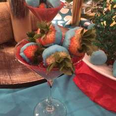 Strawberries at Seuss brunch