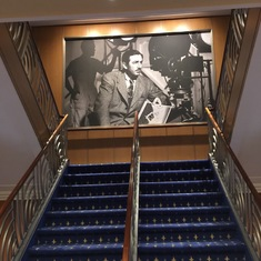 Staircase in front of the ship