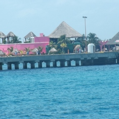 The loonngg dock at Costa Maya.  There are bike carriages avail on dock for tips