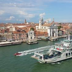 Venice, Italy - Leaving the Port of Venice