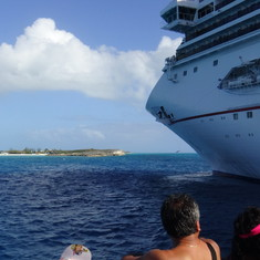 Half Moon Cay, from tender