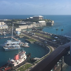 King's Wharf, Bermuda - View of Dockyard from balcony
