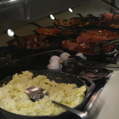 Breakfast buffet was great! A lot of choices and everything was wonderful!