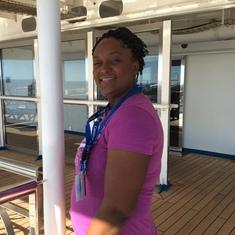 Charlotte Amalie, St. Thomas - My wife Clarissa