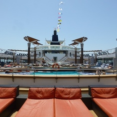 Celebrity Constellation - Lounges on Pool Deck