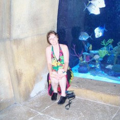 The underground aquarium at Atlantis.