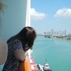 Miami, Florida - 19 and first time on a cruise