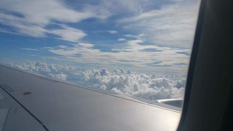 Above the clouds - Carnival Glory