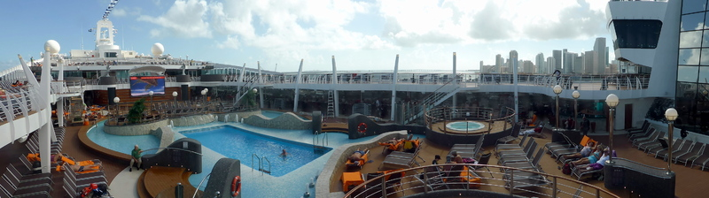 Panoramic of ship - MSC Divina
