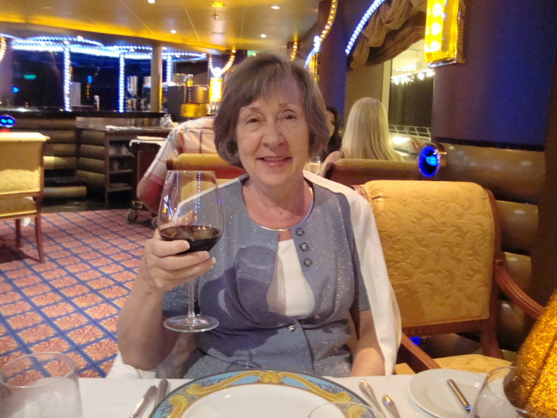 Dinner at the Diamond Steakhouse - Carnival Liberty