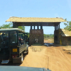 Entering Yala National Park, Sri Lanka