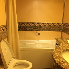 Bathroom in a suite