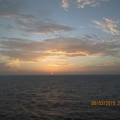 Navigator sunrise at Belize.