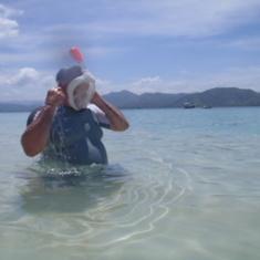 snorkeling at sandbar