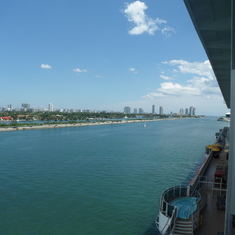 Side view of the balcony stateroom 8446