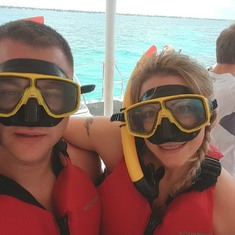 Scuba diving off a Catamaran it was ok